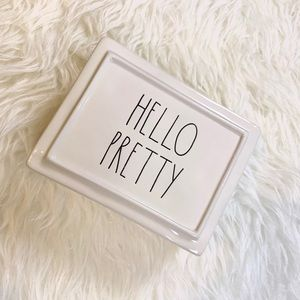 NWT Rae Dunn Hello Pretty Jewelry Box